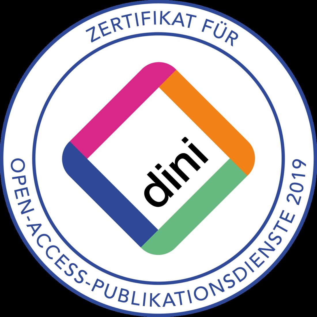 DINI - Zertifikat für Open-Access-Publikationsdienste 2019